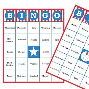 USA Bingo Cards