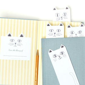 Cat Bookplates & Library Cards