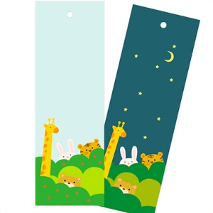 Day & Night animal bookmarks