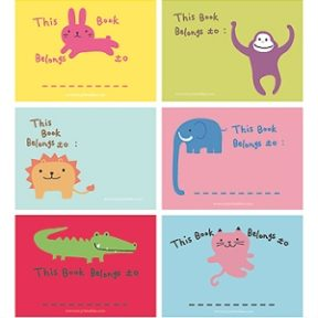 Colorful Animal Bookplates