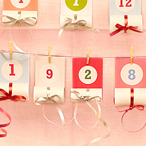 Roll Up Christmas Advent Calendar