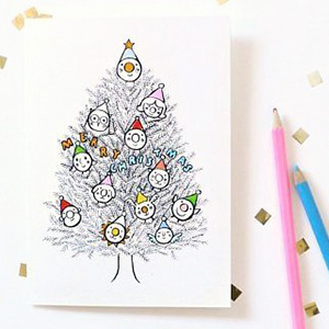 Christmas Coloring Cards on printable coloring pages santa