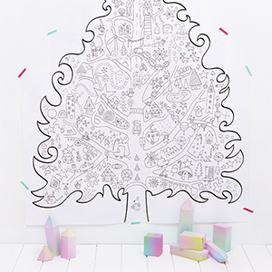 Christmas Coloring Pages Giant Tree