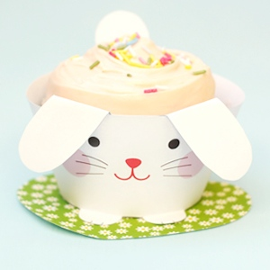 Cup Bunnies Cupcake Wrappers