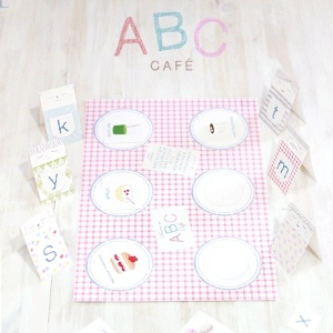 ABC Cafe File Folder Game