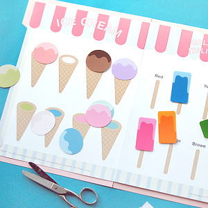 Ice Cream Color Match File Folder