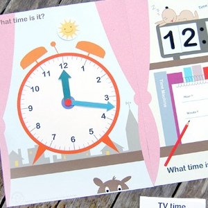 What time is is? File Folder Game