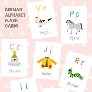 German Alphabet Flash Cards
