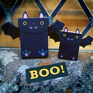 Bat Halloween favor bags