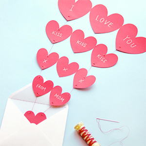 Fountain of Hearts Valentine Card