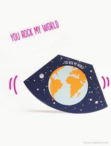 You Rock My World Valentine Card