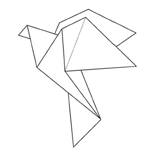 origami animal coloring pages