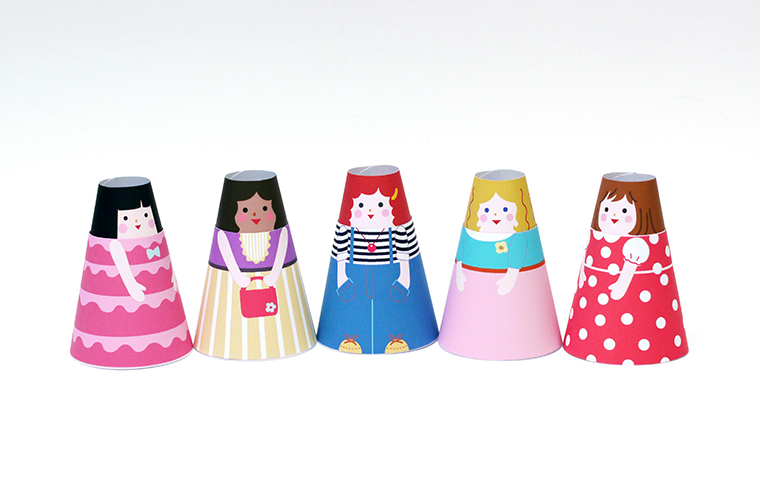 paper-dolls-cone-girls-slide