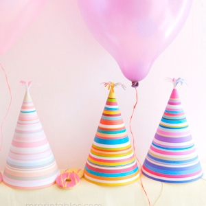 Stripy Party Hats