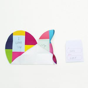 Patchwork Heart  Valentine Card