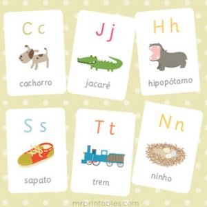 Portuguese Alphabet Flash Cards