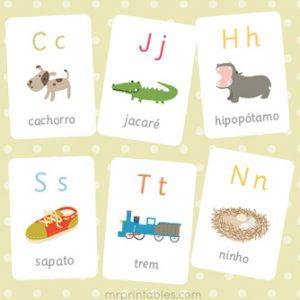 Portuguese Alphabet Flash Cards