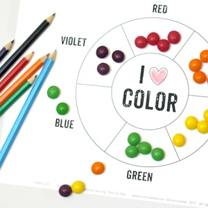Color Crafts For  Year Olds