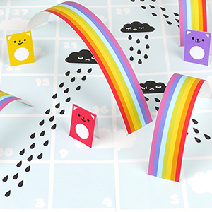 Rain & Rainbow board game
