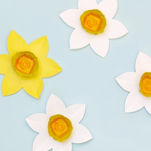 Egg Carton Daffodils Mr Printables