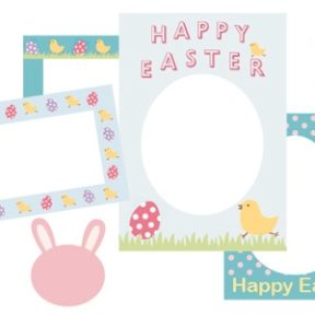Happy Easter Scrapbook Frames
