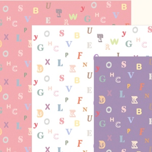 Alphabet Scrapbook Papers