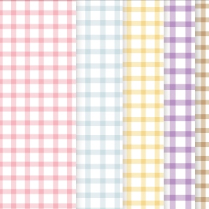 Gingham Check Scrapbook Papers