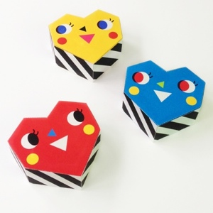 Geometric Heart Favor Boxes