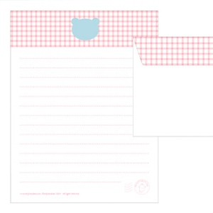 Gingham writing paper set