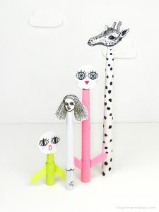 Head in the clouds! DIY Telescopic Paper Toys