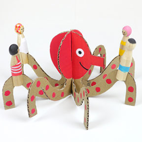 Peg Dolls & Cardboard Sea Creatures