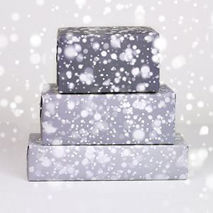 Snow gift wrapping papers