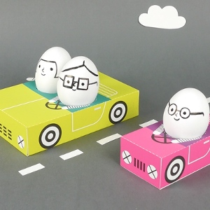Egg People on the Road