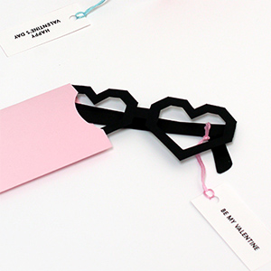 Heart Glasses Valentine Cards