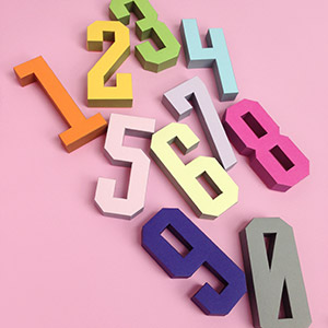 3D Number Templates