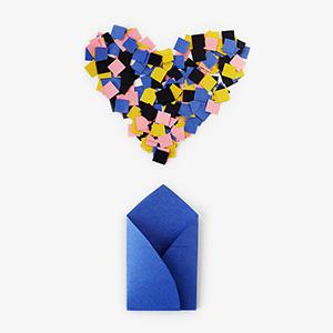 Confetti Valentine's Cards