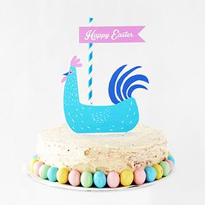 Easter Hen Cake Topper
