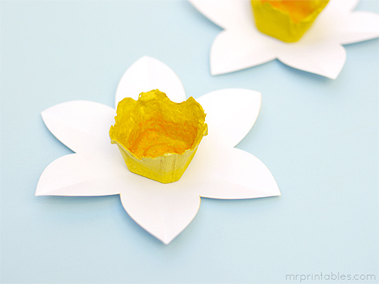 How to make egg carton daffodils