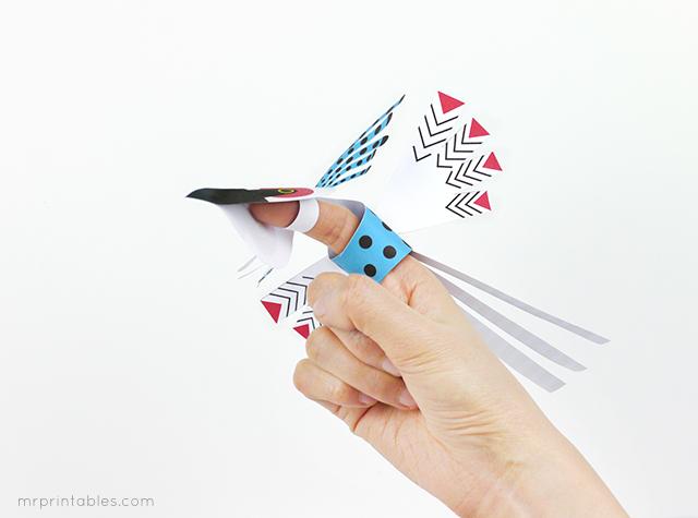 How to make bird finger puppets
