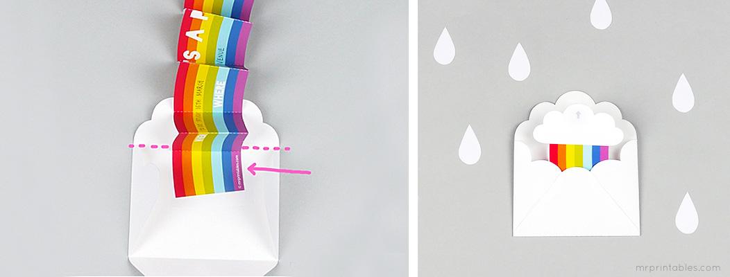 How to make rainbow party invitation