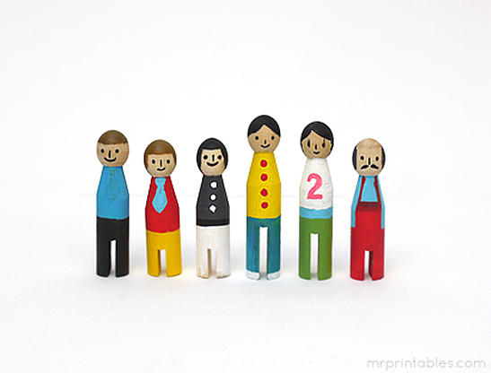 The Adventures Of The Peg Dolls Mr Printables