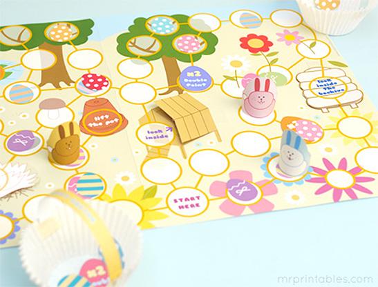 Easter Egg Hunt Board Game - Mr Printables