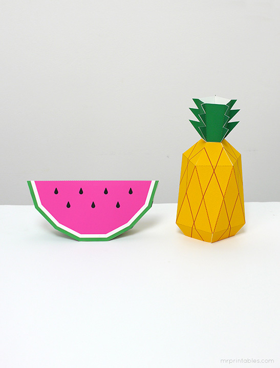 picture regarding Pineapple Template Printable called Paper Fruit - Mr Printables