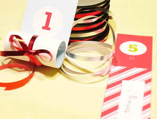 How to make Roll Up Christmas Advent Calendar