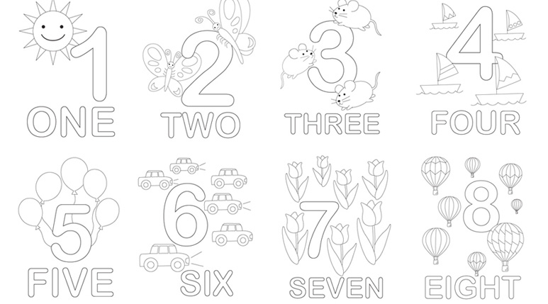 photograph regarding Printable Numbers identified as Figures Math Printables For Young children - Mr Printables