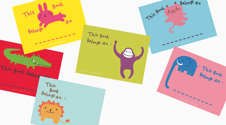 Fun Bookplates for Your Favorite Children's Books