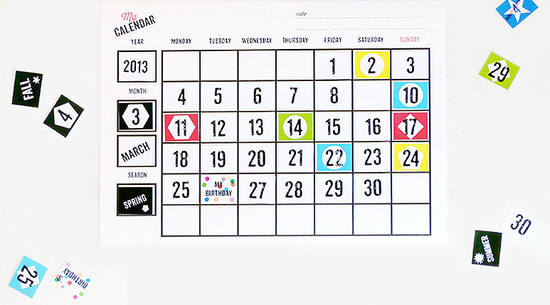 Free Printable Calendars For Children  Mr Printables