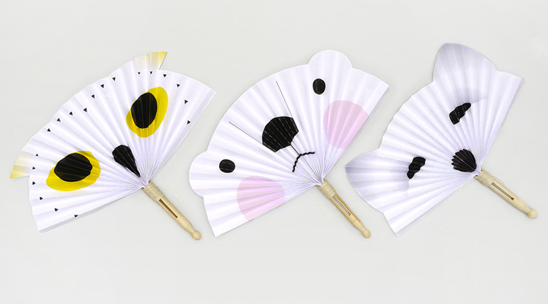 DIY Arctic Animal Paper Fans