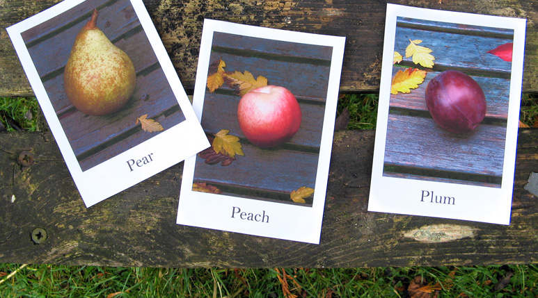 Fruit & Vegetables Vocabulary Cards